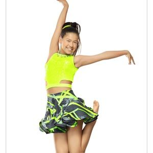 Other - Neon jazz top and bottom(set) dance costume